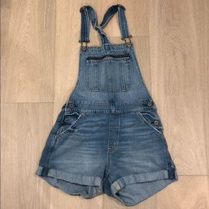 Abercrombie & Fitch Overall Denim Shorts